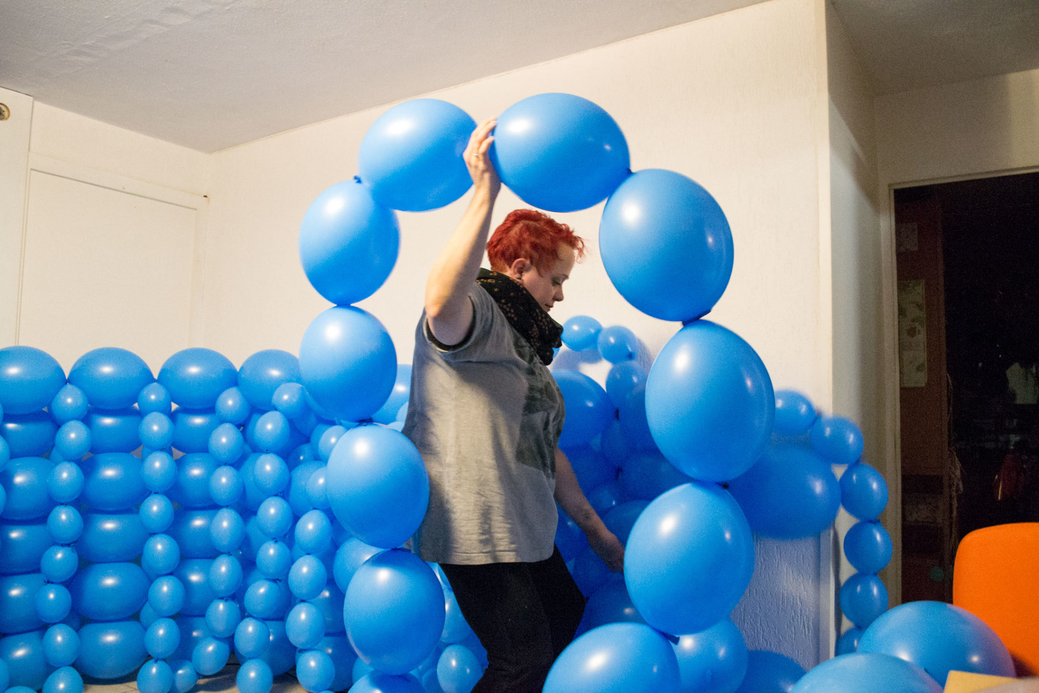 Entstehung Luftballon Fotostudio Kinderfotograf Bild 06