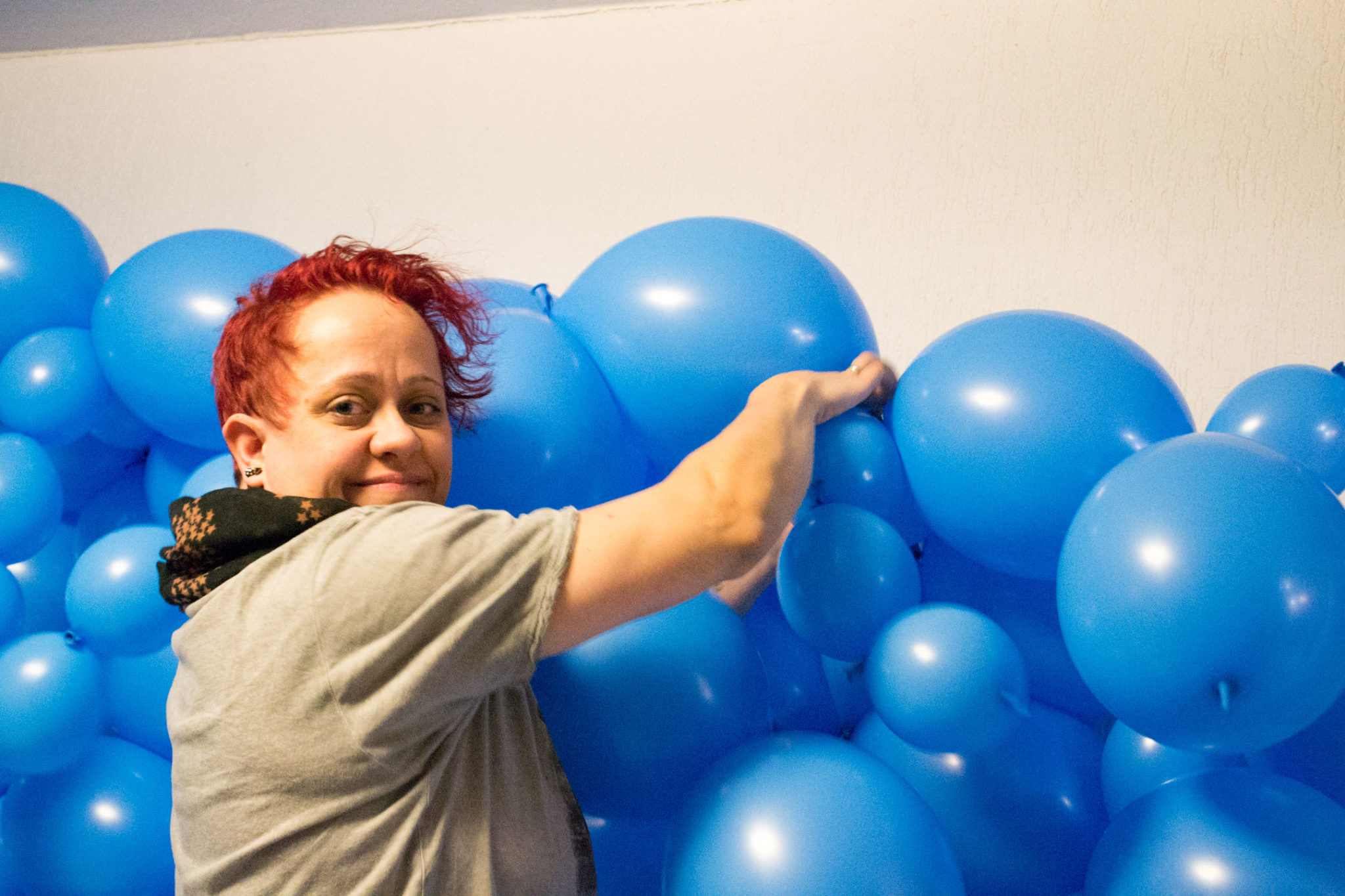 Entstehung Luftballon Fotostudio Kinderfotograf Bild 07