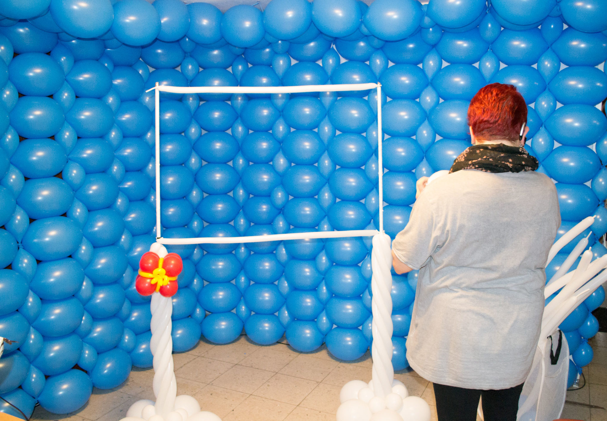 Entstehung Luftballon Fotostudio Kinderfotograf Bild 11