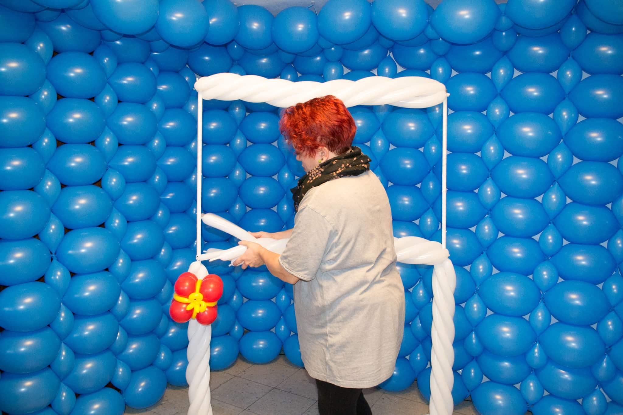 Entstehung Luftballon Fotostudio Kinderfotograf Bild 12