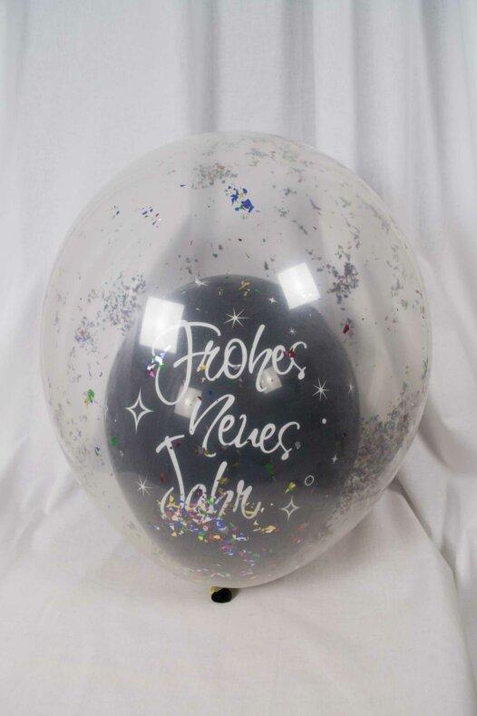 Konfetti-Luftballon Konfettiballon Frohes neues Jahr
