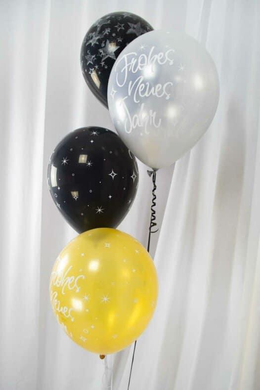 Luftballon Arrangement Frohes Neues Jahr Silvester