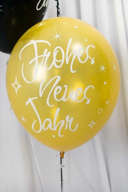 Luftballon Frohes neues Jahr gold
