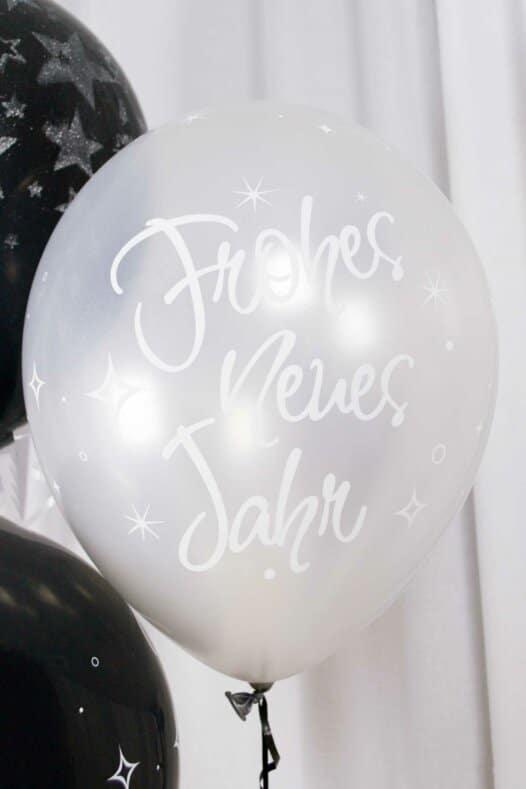 Luftballon Frohes neues Jahr silber