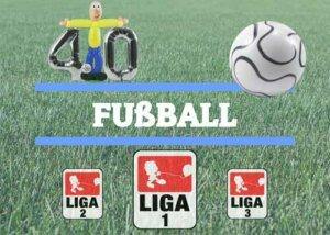Fussballspieler aus Luftballons mit Zahl