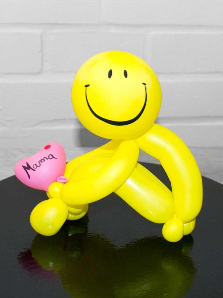 Smiley-Männchen aus Luftballons