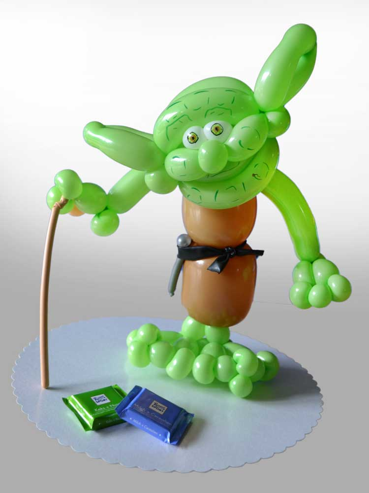 Yoda aus Luftballons