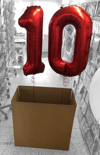 luftballon zahl 17 pink xxl gratis versand mit helium. Black Bedroom Furniture Sets. Home Design Ideas
