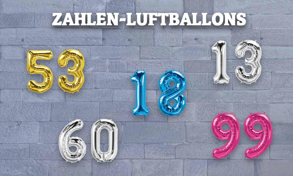 Zahlen-Luftballons