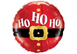 Hohoho Luftballon Folienballon rund (38 cm)