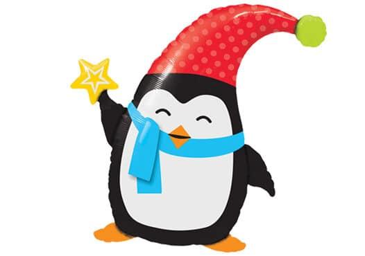 Pinguin Weihnachten Folienfigur (89 cm)