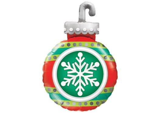 Weihnachtskugel mit Eiskristall (45 cm)