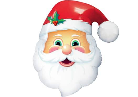 Weihnachtsmann Kopf Luftballon (80 cm)