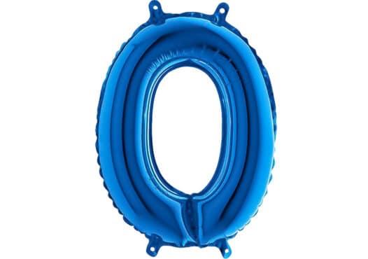 Luftballon Zahl 0 Zahlenballon blau (66 cm)