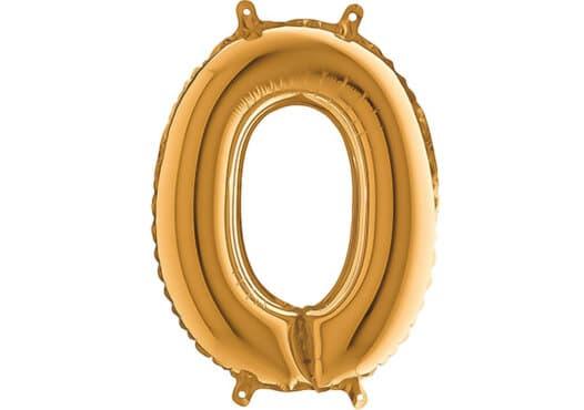 Luftballon Zahl 0 Zahlenballon gold (66 cm)