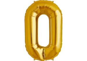 Luftballon Zahl 0 Zahlenballon gold (86 cm)