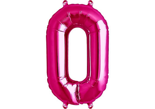 Luftballon Zahl 0 Zahlenballon pink (86 cm)
