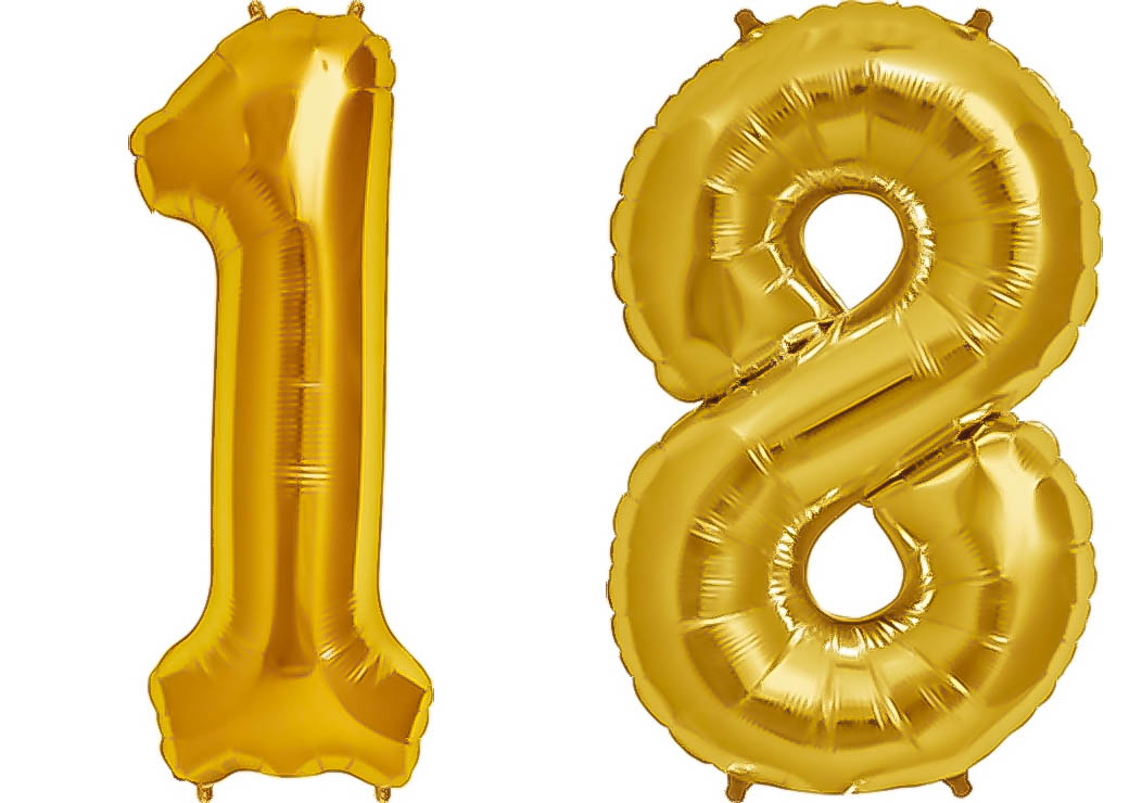 Folien Ballon Zahl 18 In Rosegold Xxl Riesenzahl 86 Cm Zum 18
