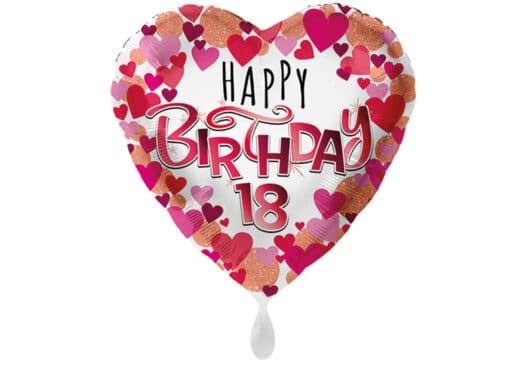 Herz-Luftballon mit kleinen Herzen