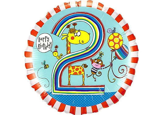 Bunter runder Luftballon mit Giraffe