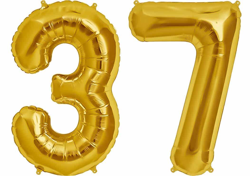 "Folienballon 80 cm GOLD /""65/"" Zahlenballon Luftballon Geburtstag Helium Zahl"