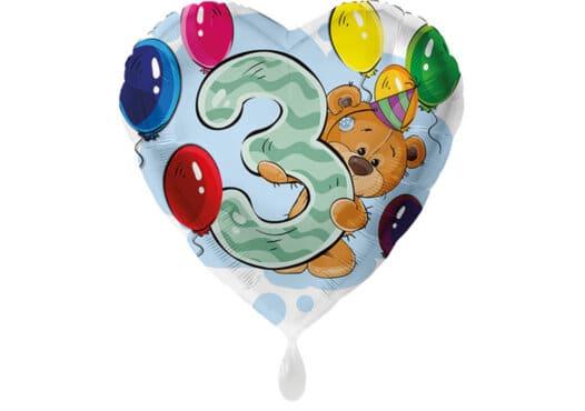 Herz Luftballon mit Bärchen
