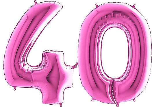 Luftballon Zahl 40 Zahlenballon pink (66 cm)