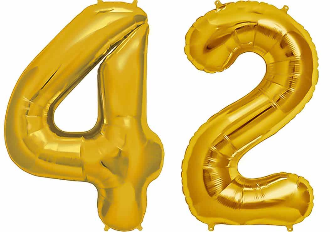 Folienballon Ballon Luftballon Helium Zahl Nummer 0-9 //35 cm groß //silber