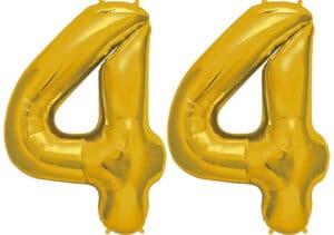 Luftballon Zahl 44 Zahlenballon gold (86 cm)