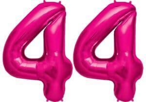 Luftballon Zahl 44 Zahlenballon pink (86 cm)