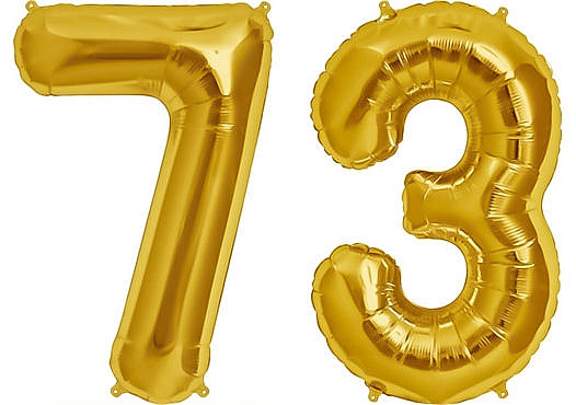 Luftballon Zahl 73 Zahlenballon gold (86 cm)