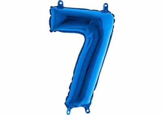 Luftballon Zahl 7 Zahlenballon blau (66 cm)
