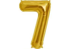 Luftballon Zahl 7 Zahlenballon gold (86 cm)