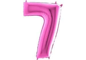 Luftballon Zahl 7 Zahlenballon pink (66 cm)