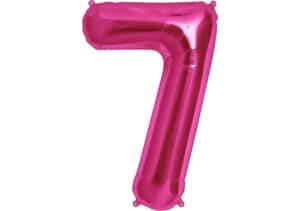 Luftballon Zahl 7 Zahlenballon pink (86 cm)