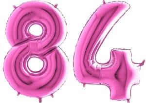 Luftballon Zahl 84 Zahlenballon pink (66 cm)