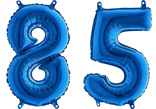 Luftballon Zahl 85 Zahlenballon blau (66 cm)