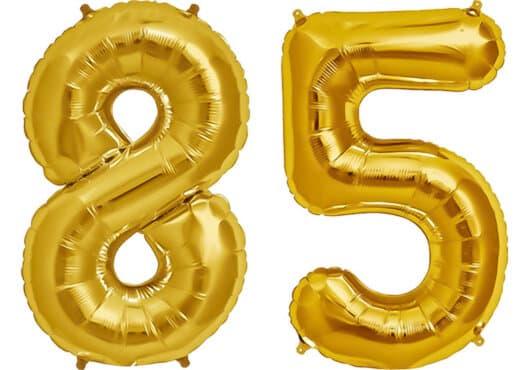 Luftballon Zahl 85 Zahlenballon gold (86 cm)