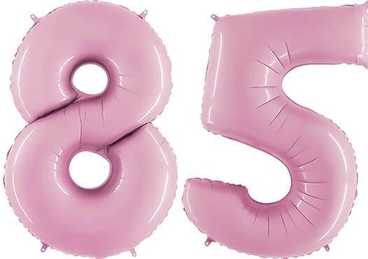 Luftballon Zahl 85 Zahlenballon pastell-pink (100 cm)