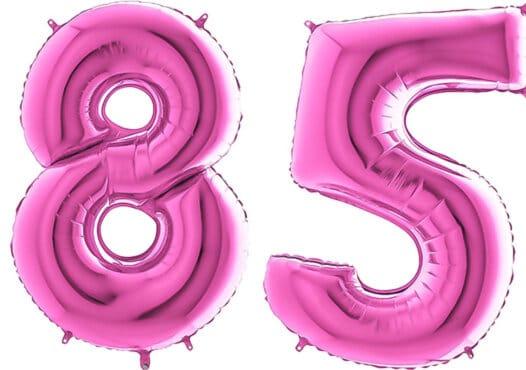 Luftballon Zahl 85 Zahlenballon pink (66 cm)