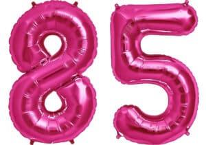 Luftballon Zahl 85 Zahlenballon pink (86 cm)