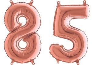 Luftballon Zahl 85 Zahlenballon rosegold (66 cm)