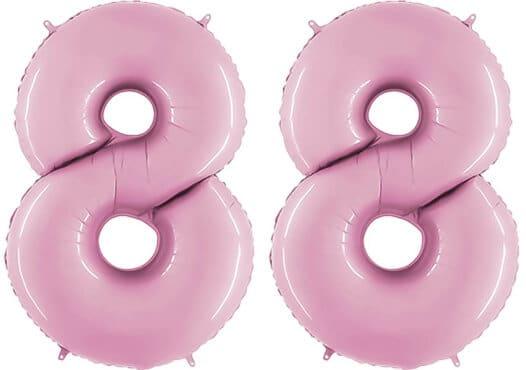 Luftballon Zahl 88 Zahlenballon pastell-pink (100 cm)