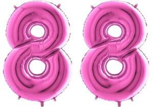 Luftballon Zahl 88 Zahlenballon pink (66 cm)