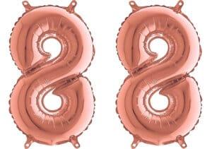 Luftballon Zahl 88 Zahlenballon rosegold (66 cm)