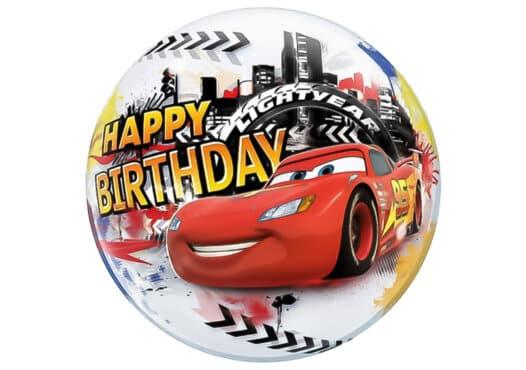 Cars Happy Birthday Luftballon Bubble