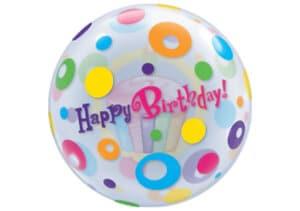 Happy Birthday Cupcake bunte Kreise Luftballon Bubble