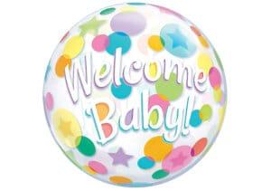 Luftballon zur Geburt Welcome Baby Bubble