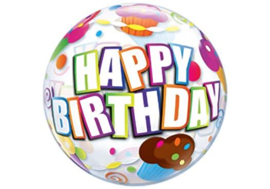 Happy Birthday Cupcakes Luftballon Bubble