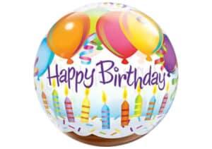 Happy Birthday Kerzen Luftballon Bubble